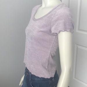 Light pink , short sleeve crop top